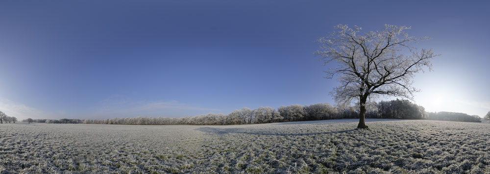 360° panorama winterlandschaft